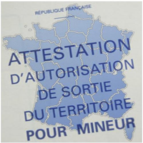 AUTORISATION DE SORTIE DE TERRITOIRE